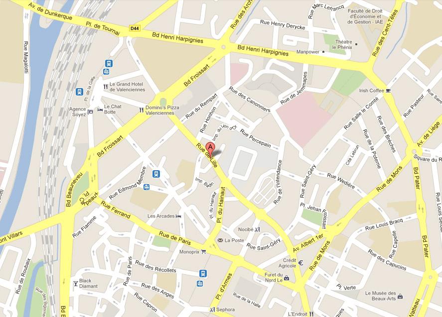 Plan de valenciennes - L adresse valenciennes ...