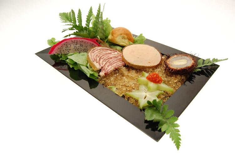 Idee Deco foie gras en entrée présentation  Entrées traiteur à Valenciennes et environs